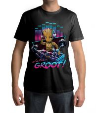 DJ Baby Groot Guardians of the Galaxy End Game Erwachsenen T-Shirt